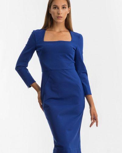 Платье осеннее синее Nai Lu-na By Anastasia Ivanova
