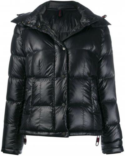 Куртка с капюшоном черная длинная Peuterey