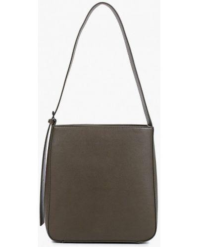 Кожаная сумка хаки Zarina
