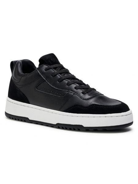 Buty sportowe skorzane - czarne Marc O'polo