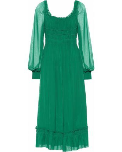 Платье миди шифоновое шелковое Proenza Schouler