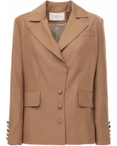 Шерстяной пиджак с карманами с лацканами Matériel