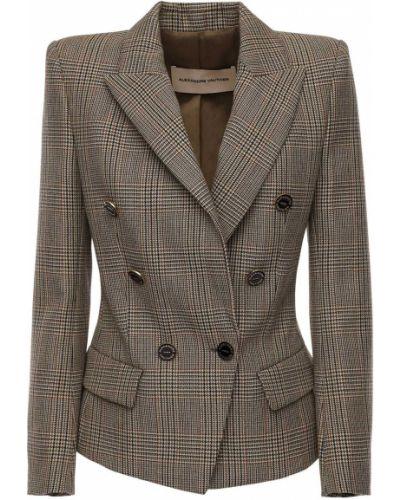 Бежевый приталенный пиджак с карманами Alexandre Vauthier