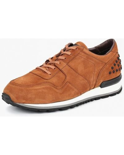 Кроссовки замшевые коричневый Paolo Conte