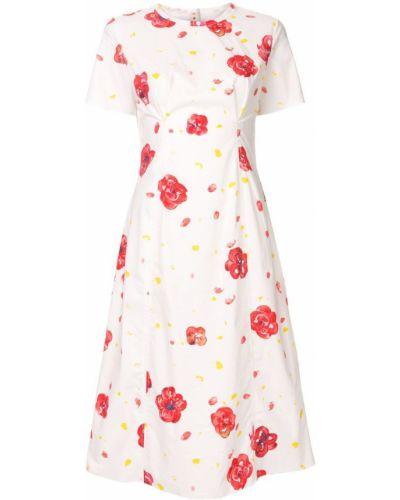 Летнее платье миди из штапеля Marni