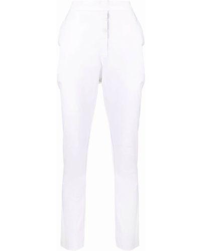 Хлопковые белые брюки с накладными карманами Kristensen Du Nord