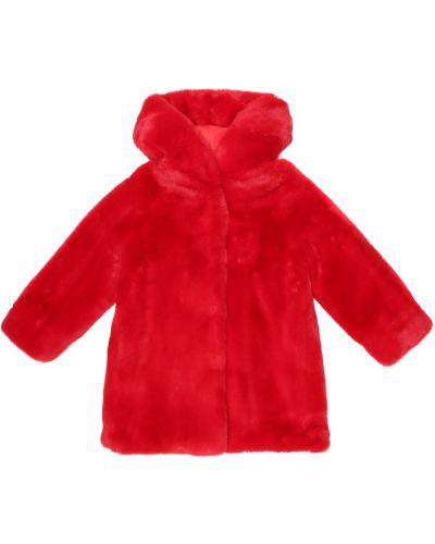 Пальто из искусственного меха Monnalisa