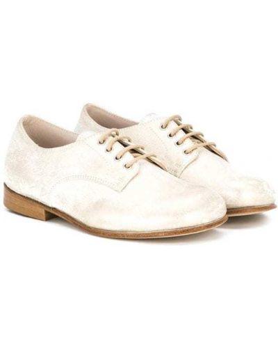 Туфли белые на шнуровке Pèpè