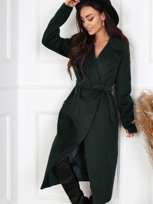 Długi płaszcz - zielony Merce