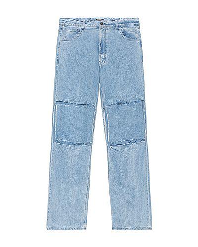 Klasyczne niebieskie spodnie klasyczne bawełniane Raf Simons