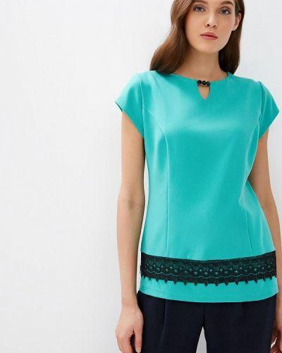 Блузка с коротким рукавом зеленый весенний Grafinia