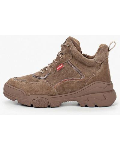 Коричневые высокие кроссовки Pierre Cardin