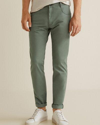 Прямые брюки с карманами с поясом Mango Man