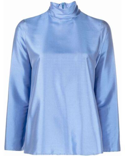 Шелковая блузка - синяя Alberto Biani