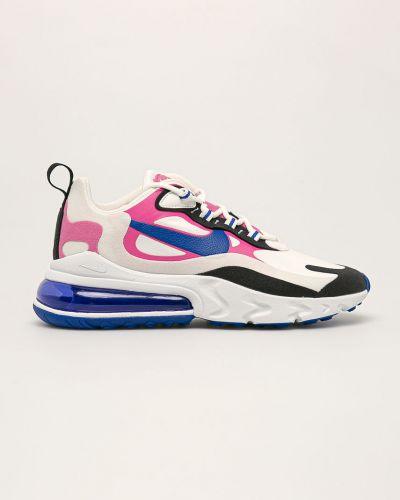 Białe sneakersy na platformie sznurowane Nike