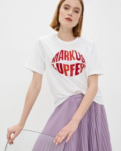 Белая футболка с короткими рукавами Markus Lupfer