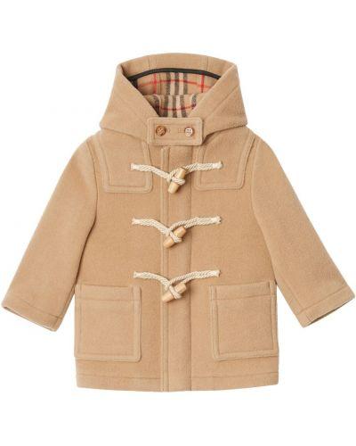 Płaszcz wełniany z kapturem Burberry