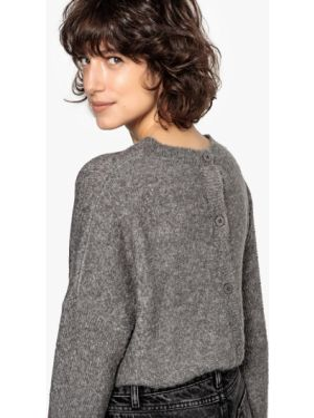 Пуловер на пуговицах акриловый La Redoute Collections