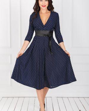 Платье с поясом в горошек платье-сарафан Taiga
