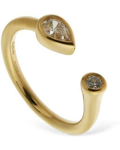 Белое кольцо с камнями Apm Monaco