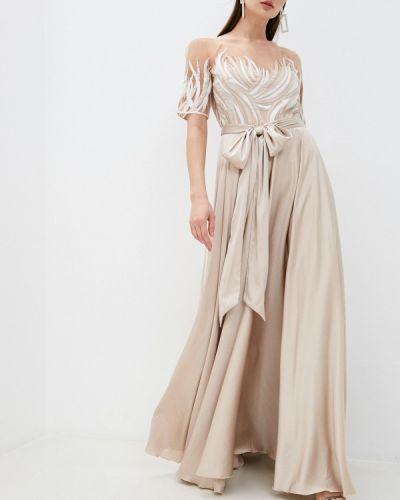 Вечернее платье - бежевое Seam