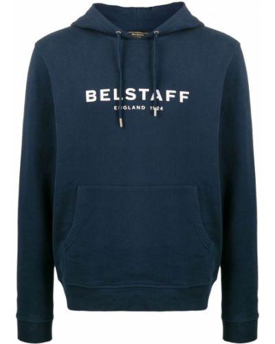 Bluza z kapturem z kapturem ciemnoniebieski Belstaff