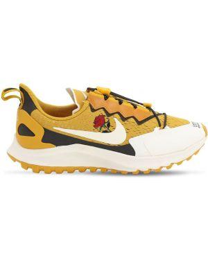 Żółte sneakersy sznurowane koronkowe Nike Gyakusou Undercover Lab