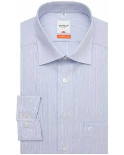Niebieska koszula bawełniana Olymp