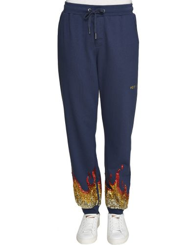 Хлопковые спортивные брюки - синие Zoe Karssen