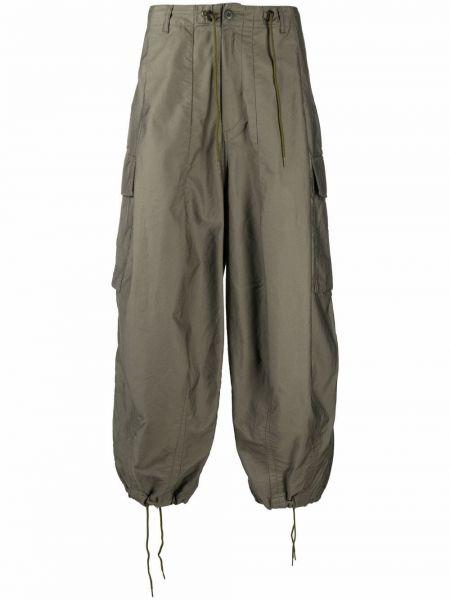 Zielone spodnie oversize Needles