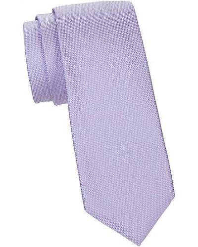 Fioletowy krawat z jedwabiu Hugo