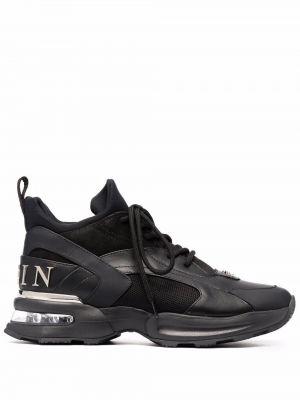 Кожаные кроссовки - черные Philipp Plein