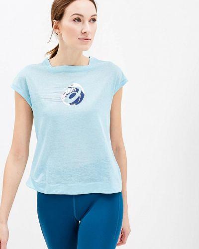 Голубая спортивная футболка Asics