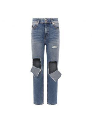 Хлопковые джинсы - голубые Versace Jeans Couture