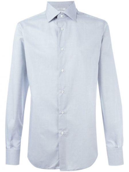 Хлопковая серая рубашка Fashion Clinic Timeless