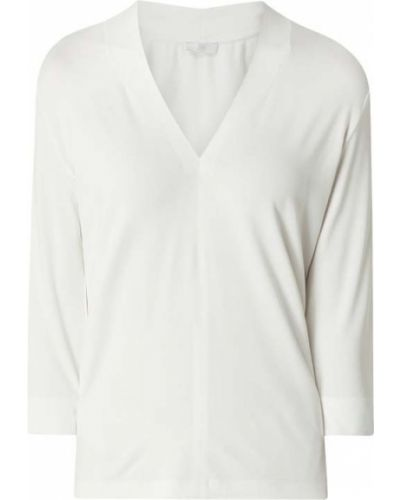 Biała bluzka z wiskozy z dekoltem w serek Riani