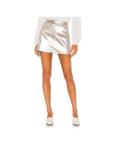 Кашемировая серебряная юбка с подкладкой с декоративной отделкой Cupcakes And Cashmere