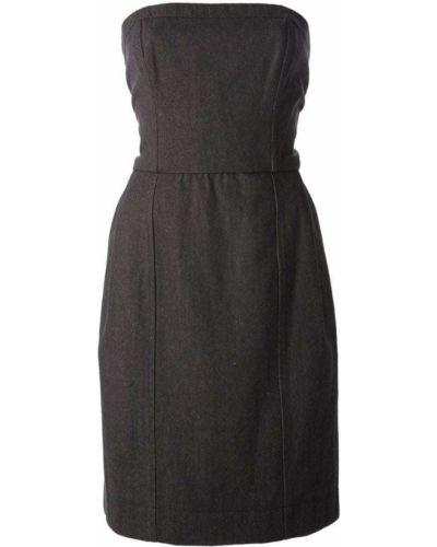 Платье серое винтажная Yves Saint Laurent Vintage