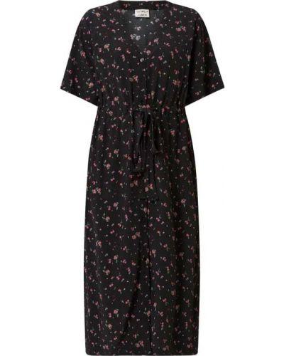 Czarna sukienka rozkloszowana z wiskozy Catwalk Junkie