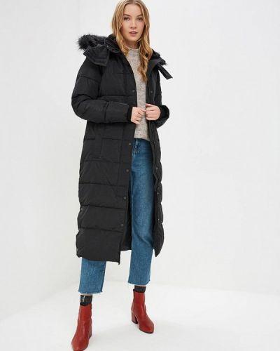 Утепленная куртка черная весенняя Warehouse