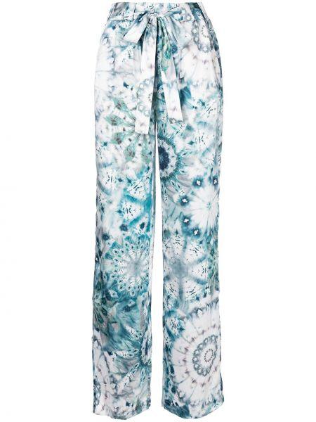 Синие брюки из полиэстера Alexis