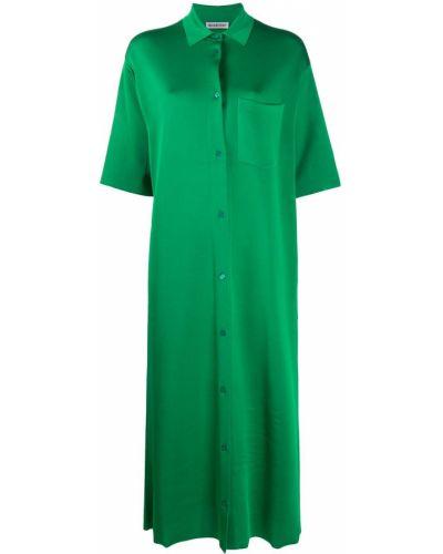 Прямое платье миди на пуговицах с воротником с карманами Balenciaga