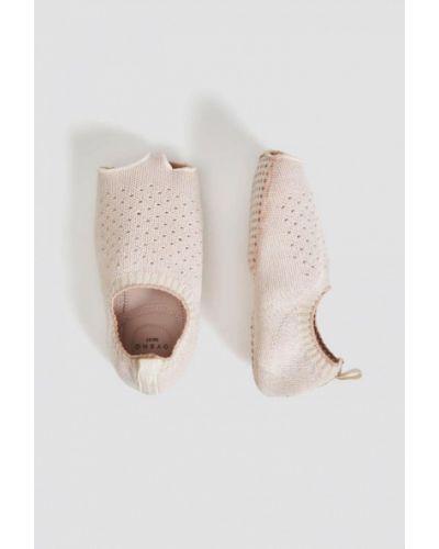 Балетки розовый с острым носком Oysho