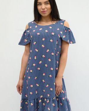 Летнее платье в полоску из штапеля Sharlize