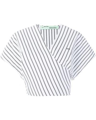 Блузка в полоску хлопковая Off-white