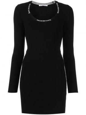 Черное платье-футболка Alexanderwang.t