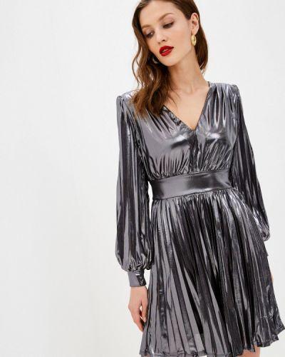 Серебряное вечернее платье Love Republic