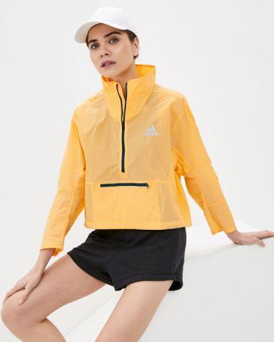 Оранжевая ветровка Adidas