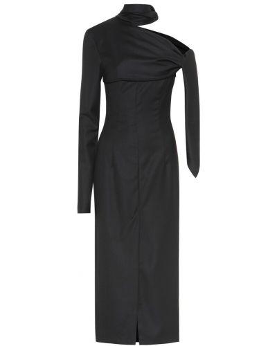 Платье миди модерн шерстяное Matériel Tbilisi