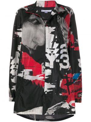 Серая длинная куртка с карманами с длинными рукавами Y-3